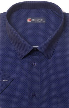 Большая хлопковая рубашка короткий рукав BROSTEM 1SG057-4 - фото 17451