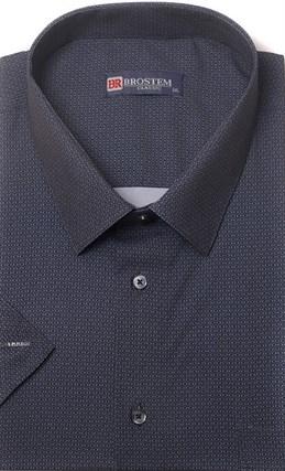 Большая хлопковая рубашка короткий рукав BROSTEM 1SG057-5 - фото 17455