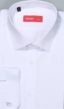 Жаккардовая белая рубашка VESTER 70714-14-60 - фото 17588
