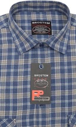 Фланелевая рубашка шерсть хлопок Brostem KA2441B - фото 17603