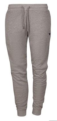 серые хлопковые брюки на резинке