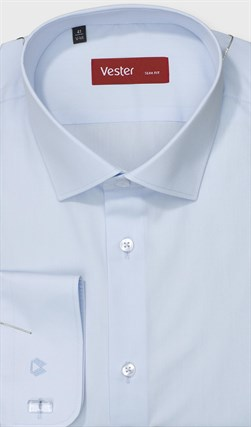 На высоких голубая сорочка VESTER 707142-90w-21 - фото 17836