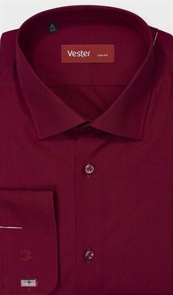На высоких бордовая сорочка VESTER 707142-92w-21 - фото 17843
