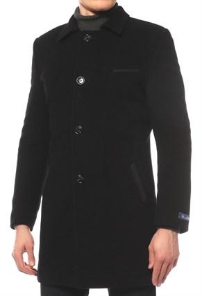 Пальто на утеплителе БРУНО черное - фото 17907