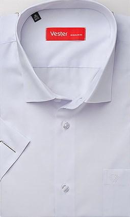 Белая рубашка большого размера короткий рукав