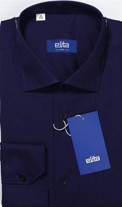 Темно-синяя рубашка большой рост