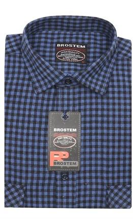 Прямая фланелевая рубашка с шерстью KA15028F - фото 18126