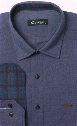 Приталенная фланелевая рубашка
