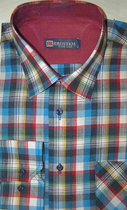 Мужская рубашка р.M Brostem лен/хлопок LN100-1 - фото 18144