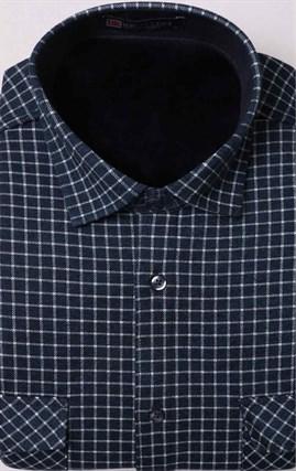 Рубашка на флисе в клетку с карманами