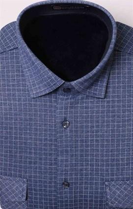 Утепленная флисом мужская рубашка