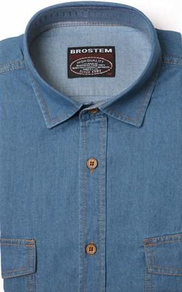 Голубая джинсовая рубашка за 1250 рублей