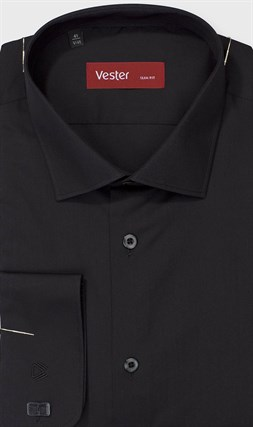Рубашка мужская баклажан
