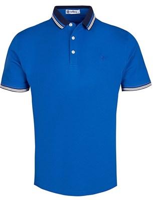 Ярко-синее мужское поло за 1220 рублей