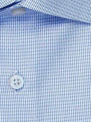 Голубая 100% хлопок рубашка VESTER 16341-07sp-21 - фото 18476