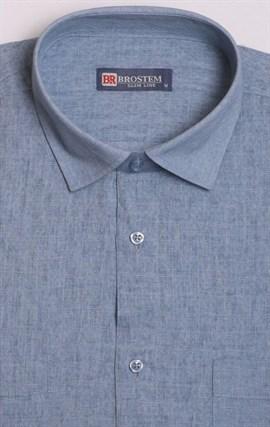 Рубашка короткий рукав со льном BROSTEM 1SBR129-4 - фото 18508