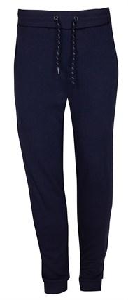 Темно-синие хлопковые брюки