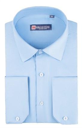 Приталенная рубашка р.S 4706 с модалом - фото 18656
