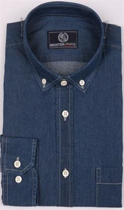 Рубашка джинсовая BROSTEM 1LBM15-1 полуприталенная - фото 18818