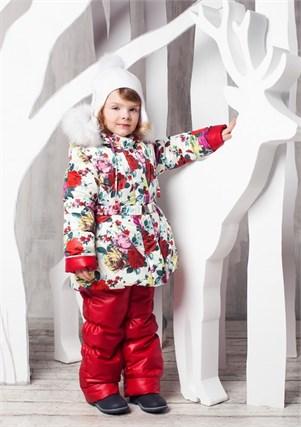 """Зимний костюм для девочки Oldos """"Роза"""" - фото 5199"""