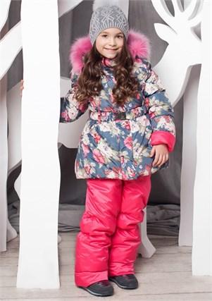 """Зимний костюм для девочки Oldos """"Роза"""" - фото 5200"""