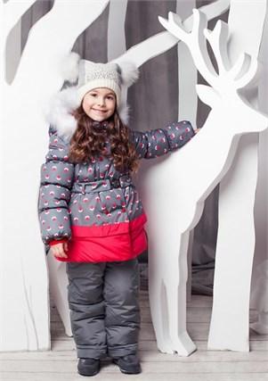 """Зимний костюм для девочки Oldos """"Вишня"""" - фото 5209"""