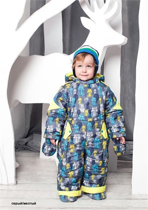 """Зимний комбинезон-трансформер для мальчика Oldos """"Роботы"""" - фото 5231"""
