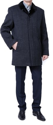 Зимнее пальто на утеплителе А-58Рс - фото 5536