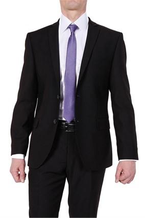 Черный мужской костюм 7717 - фото 7175