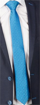Галстук FORMAX 6 ярко-голубой - фото 8219