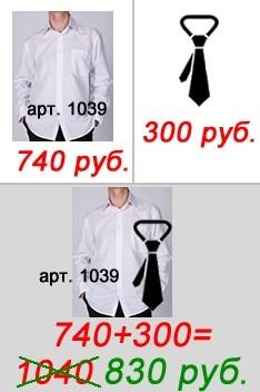 """""""Silver"""" - сорочка  и галстук - фото 8296"""