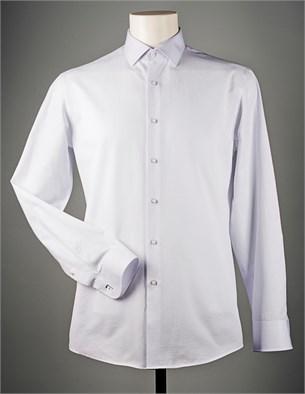 Белая жаккардовая рубашка VESTER 70714S-14 - фото 9672