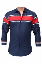 Мужская рубашка хлопок 100 % P-2017-03 Bawer приталенная