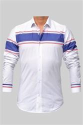 Мужская рубашка хлопок 100 %  P-2017-05 Bawer приталенная