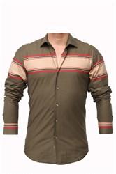 Мужская рубашка хлопок 100 %  P-2017-07 Bawer приталенная