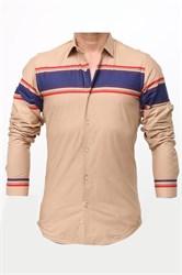 Мужская рубашка хлопок 100 %  P-2017-08 Bawer приталенная