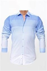 Мужская рубашка хлопок 100 %  P-2017-10 Bawer приталенная