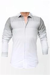 Мужская рубашка хлопок 100 %  P-2017-12 Bawer приталенная