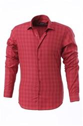 Мужская рубашка P-4014-09 Bawer приталенная
