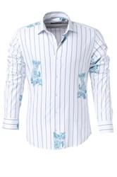 Мужская рубашка P-4015-20  Bawer полуприталенная