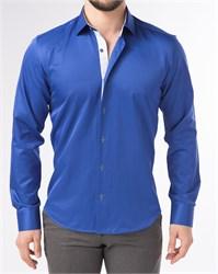 Мужская рубашка хлопок 100 %  P-4003-07 Bawer