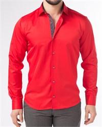 Мужская рубашка хлопок 100 % P-4003-08 Bawer полуприталенная