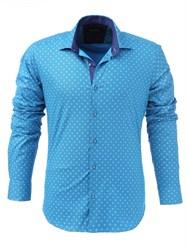 Мужская рубашка хлопок 100 %  P-4006-15 Bawer приталенная
