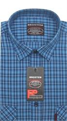 Рубашка мужская хлопок 100 % SH657-1 BROSTEM