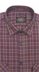 Рубашка мужская хлопок 100 % SH670 BROSTEM полуприт.