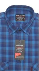 Рубашка мужская хлопок 100 % SH698 BROSTEM полуприт.