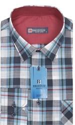 Мужская рубашка лен/хлопок LN120-Z Brostem приталенная
