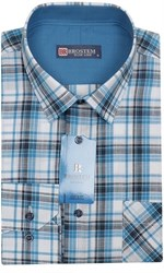 Мужская рубашка лен/хлопок LN141-Z Brostem