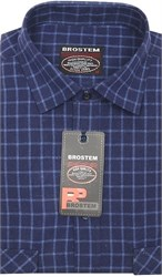 Приталенная рубашка шерсть/хлопок Brostem KA15019D