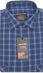Приталенная рубашка шерсть/хлопок Brostem KA15027B